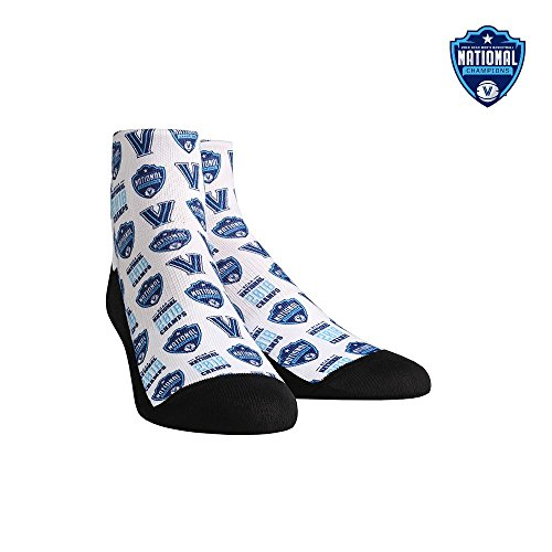 (Villanova Wildcats - All Over 2018 Basketball National Champions Quarter Socks)