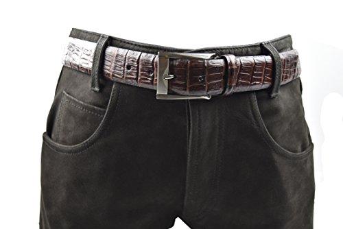 Zerimar Cintura registrato per uomo in pelle di alta qualità Altezza 3.5 cms Outlet Novedades Erp1V