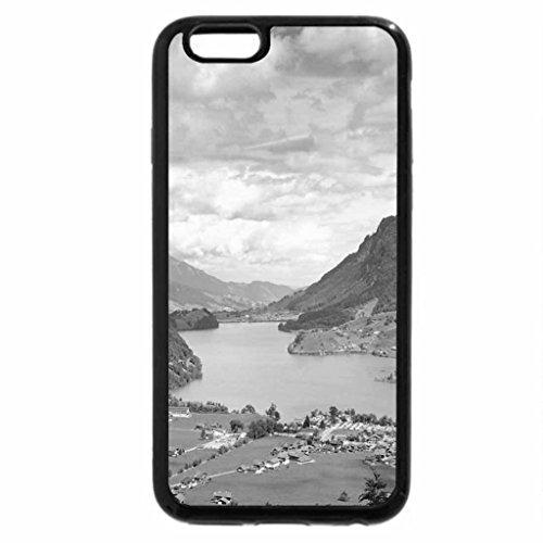 iPhone 6S Case, iPhone 6 Case (Black & White) - lungernsee lake samerataa valley swiss