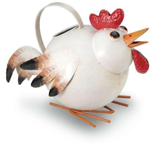 """Hen Antiqued/Rustic Metal Watering Can - 10"""" Long and 8.5..."""