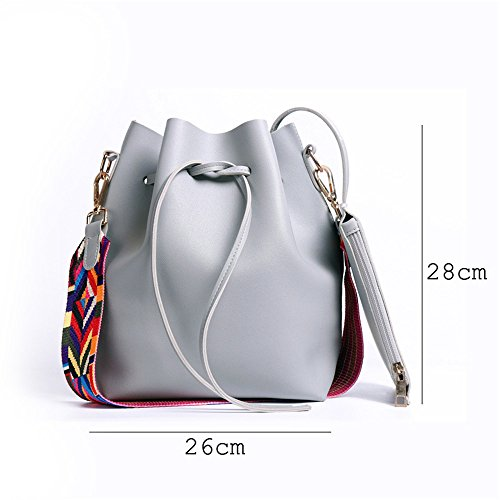 Red Bag ladies Bags Crossbody Pu Leather With Strap Smartrich Bucket Women Colorful 46Hw6x7