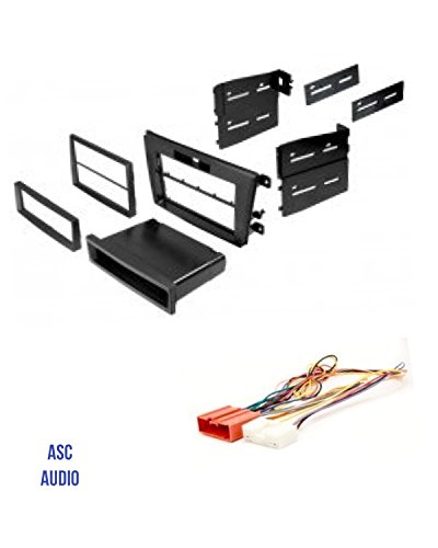Cx 7 Mazda (ASC Audio Car Stereo Radio Install Dash Mount Kit and Wire Harness for installing an Aftermarket Radio for 2007 2008 2009 Mazda CX-7 CX7 - Includes Factory Clock Adjust T Wire Harness)