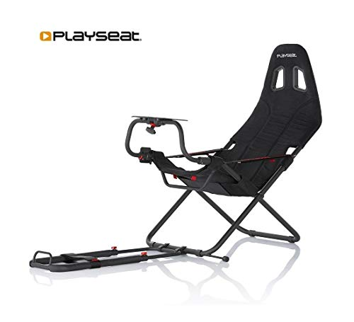 Playseat Challenge Black | Popular foldable budget racing chair | Set up in several seconds| Unique foldable design…