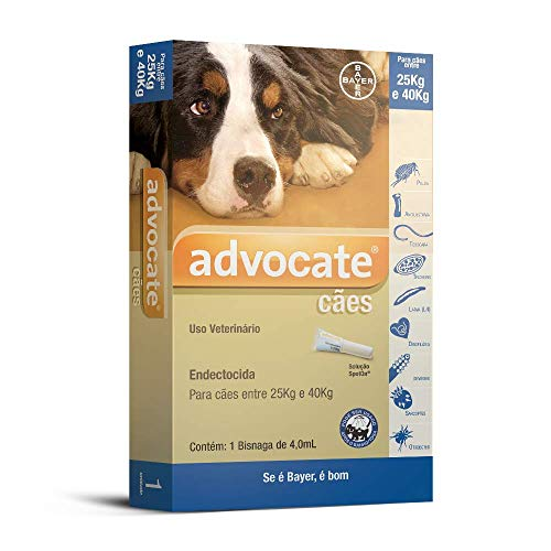 Antipulgas Advocate Bayer para Cães de 25kg até 40kg - 1 Bisnaga de 4,0ml