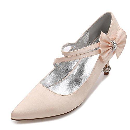 Elegant high shoes Chaussures de Mariage pour Femmes Bout Ferm