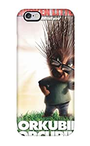 High Quality Shock Absorbing Case For Iphone 6 Plus-chicken Little Hair Morkubine Porcubine Pointman Messy Green Grass White Sky November End Is Near An People Movie