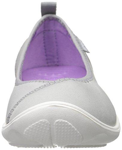 Crocs Duet Busy Day W - Bailarinas de sintético para mujer Grigio (Light Grey/White)