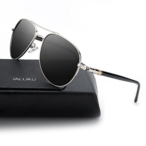 IALUKU Classic Aviator Polarized Sunglasses