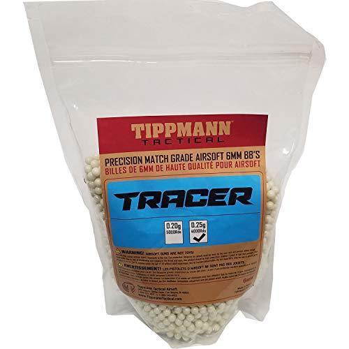 Tippmann Tracer Precision Match Grade 6mm Airsoft BB's Light Green (.25g / 4000 BB's) ()