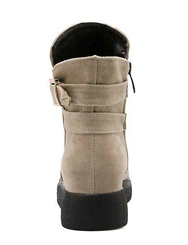 XZZ    Damenschuhe - Stiefel - Kleid   Lässig - Vlies - Niedriger Absatz - Rundeschuh   Modische Stiefel - Schwarz   Rot   Beige B01L1GWH5M Sport- & Outdoorschuhe Modebewegung 555d9c
