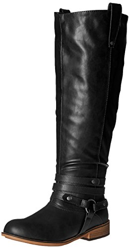 - Brinley Co Women's Bailey-Xwc Riding Boot, Black Extra Wide Calf, 8 M US