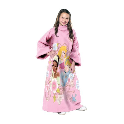 Disney, Princess, Princess Powered 48-Inch-by-48-Inch Youth Comfy Throw with Sleeves by The Northwest Company