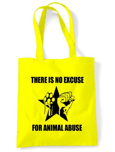 Abuse There Excuse Animal Is Shoulder Bag Tote For Yellow No qpwpZXx1