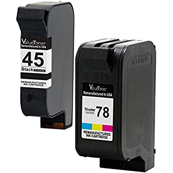 Valuetoner Remanufactured Ink Cartridge Replacement For HP 45 78 C8788FN 51645A C6578DN 1 Black