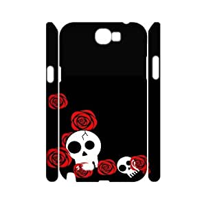 HXYHTY Skull Art 3 Phone 3D Case For Samsung Galaxy Note 2 N7100 [Pattern-5]