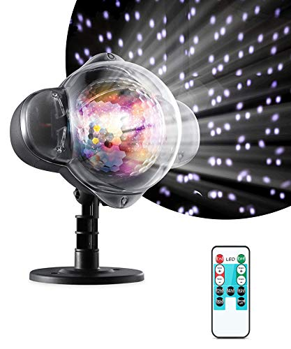 LED Snowfall Lights Projector, Christmas Snow Lights,Waterproof Snow Falling Projector Lamp Spotlight for Garden Ballroom Xmas Party Halloween Holiday Landscape Decorative with Timer Remote Control ()