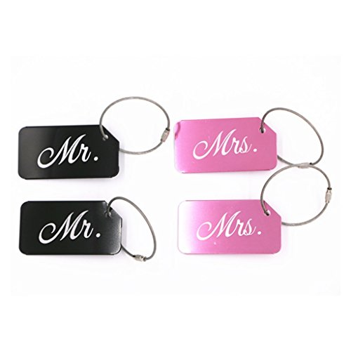 Fvstar Mr and Mrs Luggage Tag Married Honeymoon Travel Suitcase Tags for...