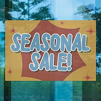 Nostalgia Burst Window Cling 18x12 Seasonal Sale CGSignLab 5-Pack