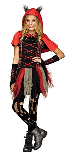Fun World Girls Little Wolf Costume, Red, X-Large 14-16 for $<!--$30.50-->