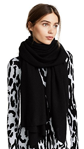 Bop Basics Women's Cashmere Scarf, Black, One Size by Bop Basics
