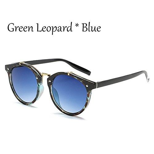 Gafas De C1 Leopard Señoras Moda Green Vintage Tonos De Lujo Mal C1 De Sol De Hombre Sol Viaje G360 TIANLIANG04 Mujer Verde Gafas Gradiente Leopard Gafas B6qxggw8n