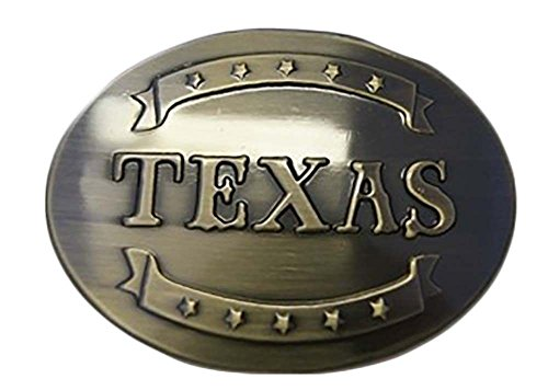 ALBATROS State of Texas Letters Stars Banners TX United States Metal Belt Buckle for Home and Parades, Official Party, All Weather Indoors Outdoors -