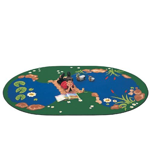 - Carpets for Kids 3051 Printed The Pond Kids Rug Size: Oval 5'10