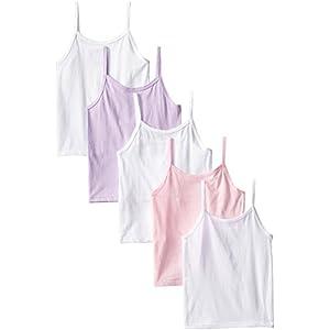 Hanes Big Girls' Camis, Assorted, Medium (Pack Of 5)