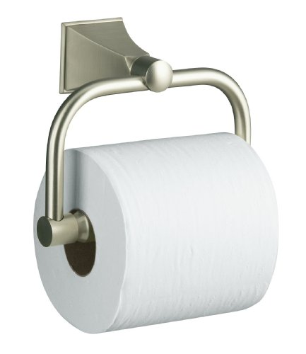KOHLER K-490-BN Memoirs Toilet Tissue Holder with Stately Design, Vibrant Brushed Nickel
