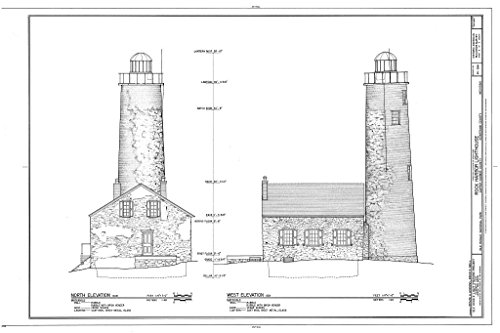 - Blueprint Diagram HABS MICH,42-COPHAR.V,2- (Sheet 4 of 7) - Rock Harbor Lighthouse, Copper Harbor, Keweenaw County, MI 12in x 08in