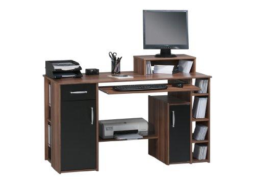 MAJA-Möbel 1929 4037 Schreib- und Computertisch, Merano-Nachbildung - schwarz, Abmessungen BxHxT: 139 x 91,5 x 60 cm