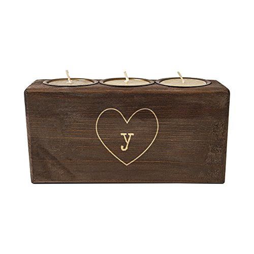 Cathy's Concepts Personalized Rustic Heart Sugar Mold Unity Candle, Letter Y