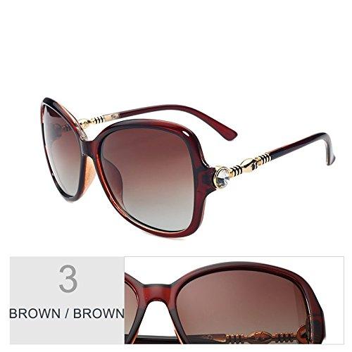 Gafas De Polarizadas Brown Brown TIANLIANG04 Señor Big Diamond Bastidor Brown Sol Eyewear Tamaño De Brown Gafas De Lujo Sol Mariposa De De 18XC8Hn