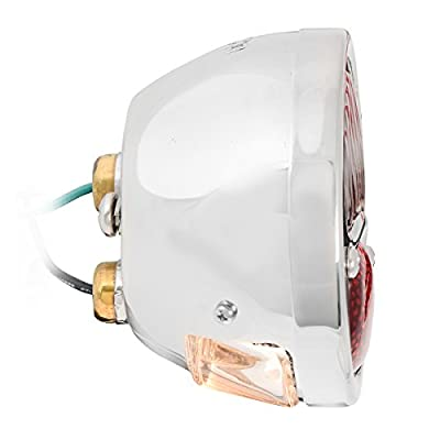 KNS Accessories KA0030 6V Stainless Steel Duolamp Tail Light for Ford Model A with Amber