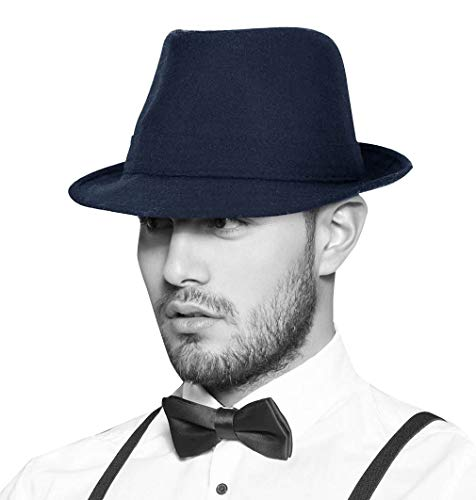 (Simplicity Unisex Fedora Hats for Women Manhattan Fedora Hat,)