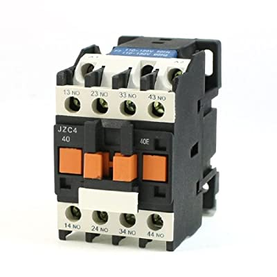 Uxcell JZC4-40 110VAC 50/60Hz Coil 3P Three Pole 4NO AC Contactor