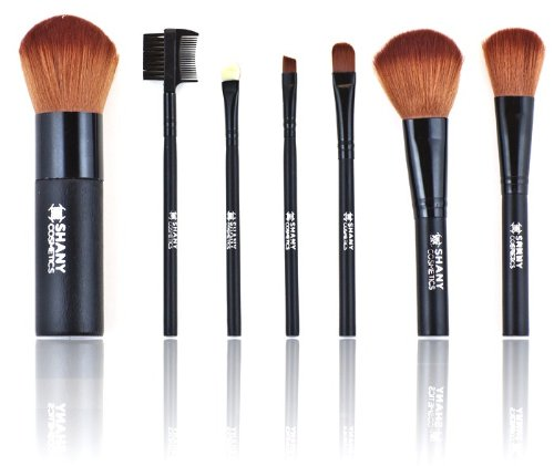 SHANY Studio Quality Cosmetic Brush Set, 7 Piece with Bag