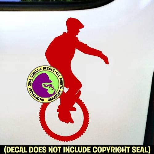 Mountain Unicycle Vinyl Decal Sticker C