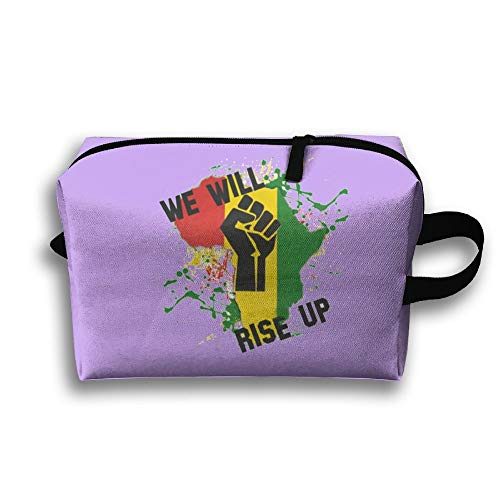 Travel Jewelry Bags We Will Rise Up Africa Map Cosmetics Case Organizer Bag by Kocvbng I