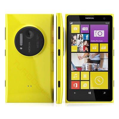 Nokia Lumia 1020 32GB Unlocked GSM Windows Smartphone w/ 41MP Camera - Yellow - No Warranty