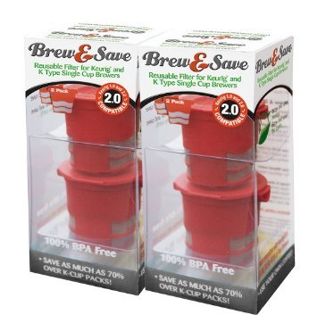 Brew & Save Refillable K-Cup for Keurig 2.0 and 1.0 Brewers, 5-Count (Brewer Series)