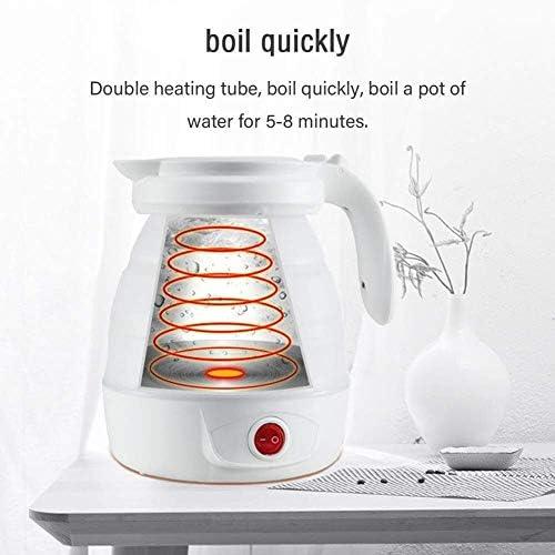 Wyxy Bouilloire électrique Pliable de qualité Alimentaire en Silicone de qualité Alimentaire Bouilloire électrique Pliable, 0.8L Rapide