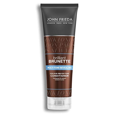 John Frieda Collection Brilliant Brunette Shine Release Moisturizing Conditioner with Enriching Technology for All Shades 8.45 Oz. (1 Bottle)