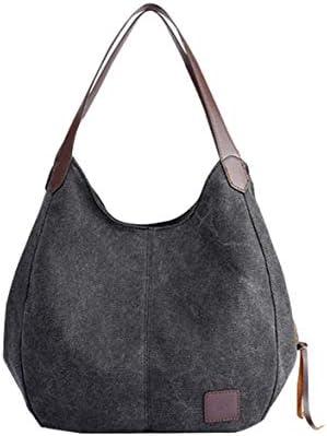 女性キャンバスショルダーバッグトラベルスクールワークショッピング日常使用レトロカジュアルハンドバッグ