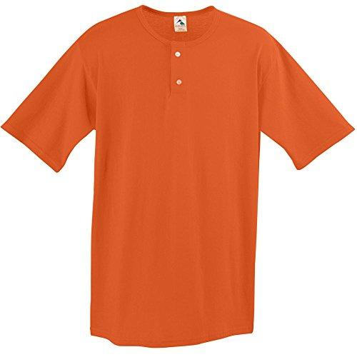 Augusta Sportswear Two Button Baseball Jersey, XX-Large, Orange