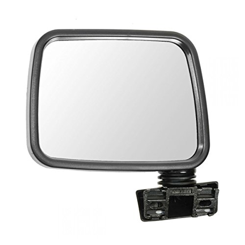 Rodeo Manual Mirror - Mirror Manual Black LH Left Driver side for 88-93 Isuzu Pup Pickup Rodeo