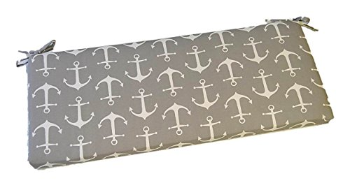 Gray / Grey and White Nautical Anchor Print 2