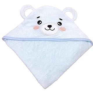 SWEET DOLPHIN Baby Hooded Bath Towel (Bear, 30×30 INCH)