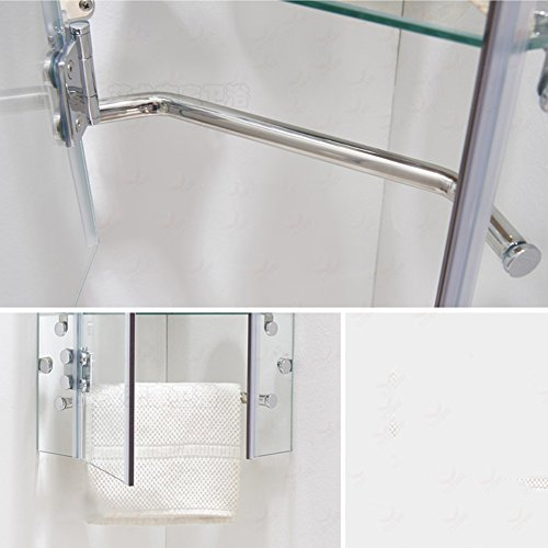 WENZHE Over toilet Bathroom Shelf Rack Washroom Shower Wall Mounted Corner Lockers Waterproof Tempered Glass, 3 Layers, 2 Models storage organizer (Color : Diamond-shaped) durable service