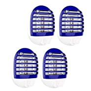 4 Pack Plug in Electronic Insect Killer Mosquito Lure Lamp Pest Control Bug Zapper Eliminates Flying Pests Gnat Trap Indoor Night Light